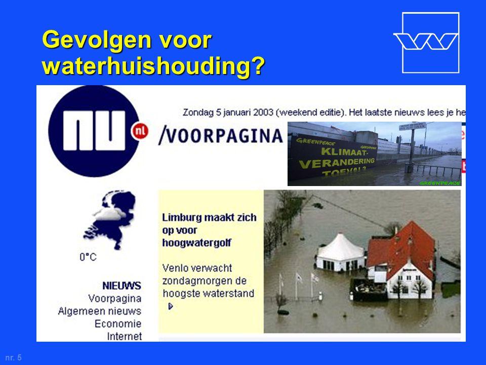 nr. 5 Gevolgen voor waterhuishouding.