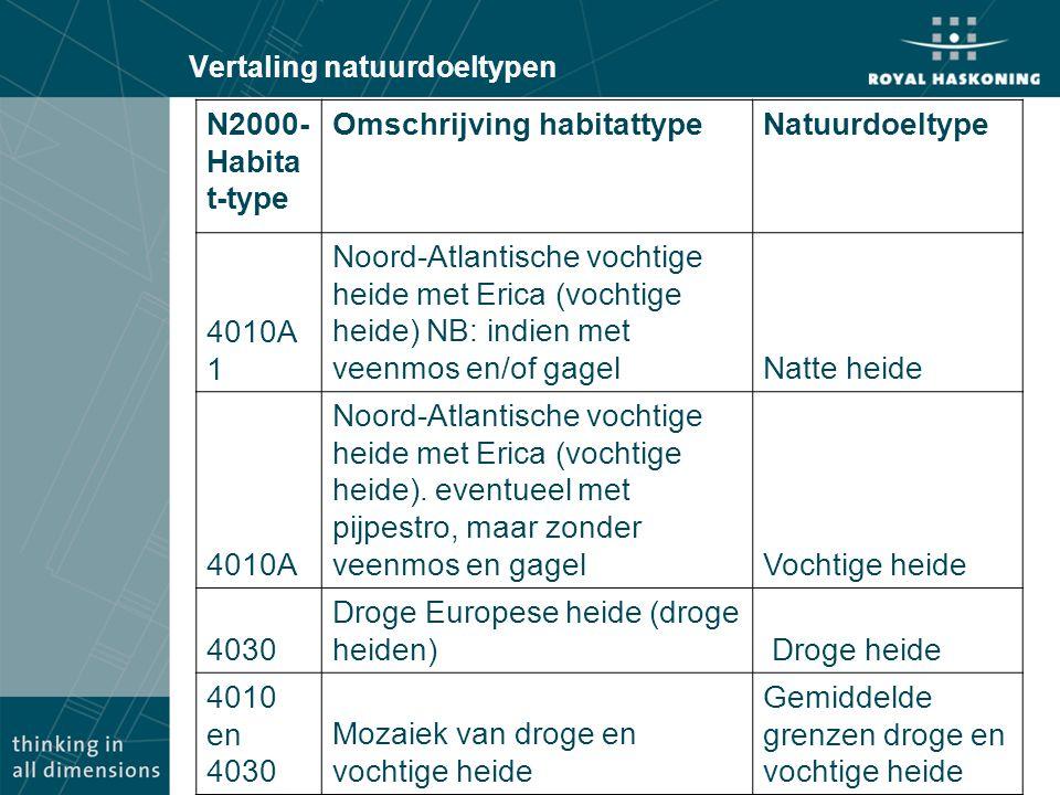 N2000- Habita t-type Omschrijving habitattypeNatuurdoeltype 4010A 1 Noord-Atlantische vochtige heide met Erica (vochtige heide) NB: indien met veenmos