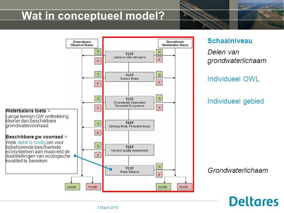 3 Maart 2010 Wat in conceptueel model.