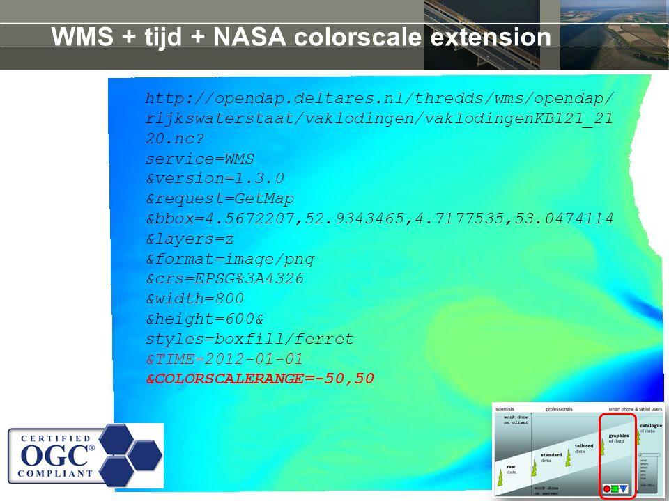 WMS + tijd + NASA colorscale extension http://opendap.deltares.nl/thredds/wms/opendap/ rijkswaterstaat/vaklodingen/vaklodingenKB121_21 20.nc.