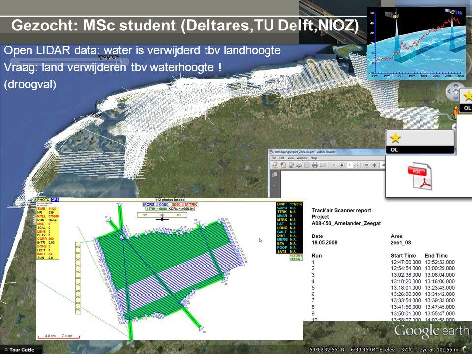 Open LIDAR data: water is verwijderd tbv landhoogte Vraag: land verwijderen tbv waterhoogte .
