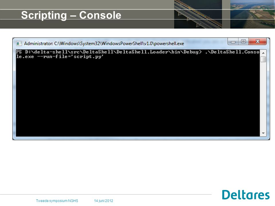 14 juni 2012Tweede symposium NGHS Scripting – Console