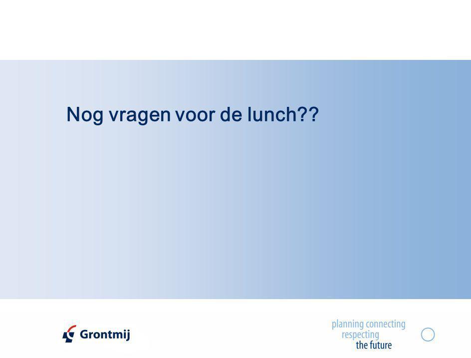 Nog vragen voor de lunch??