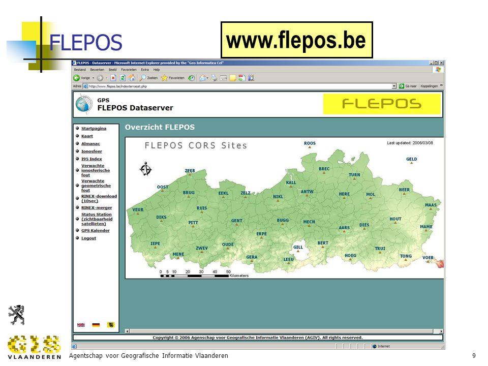 Agentschap voor Geografische Informatie Vlaanderen20 activiteiten in 2007-2009: GRB voorbereiden van GRB-karteringen nazicht basisbestanden door gemeente straten en adressen (zie ook CRAB) melden van GRB-afwijkingen begeleiding systeemontwikkeling consensustekst recuperatie van bestaande karteringsprocessen as-built plannen van gemeente  GRB- skeletbestekken begeleiding, voorbeeldbestekken, voorbeeldbestanden, kennis GRB-specificaties kwaliteitscontrole door derden introduceren