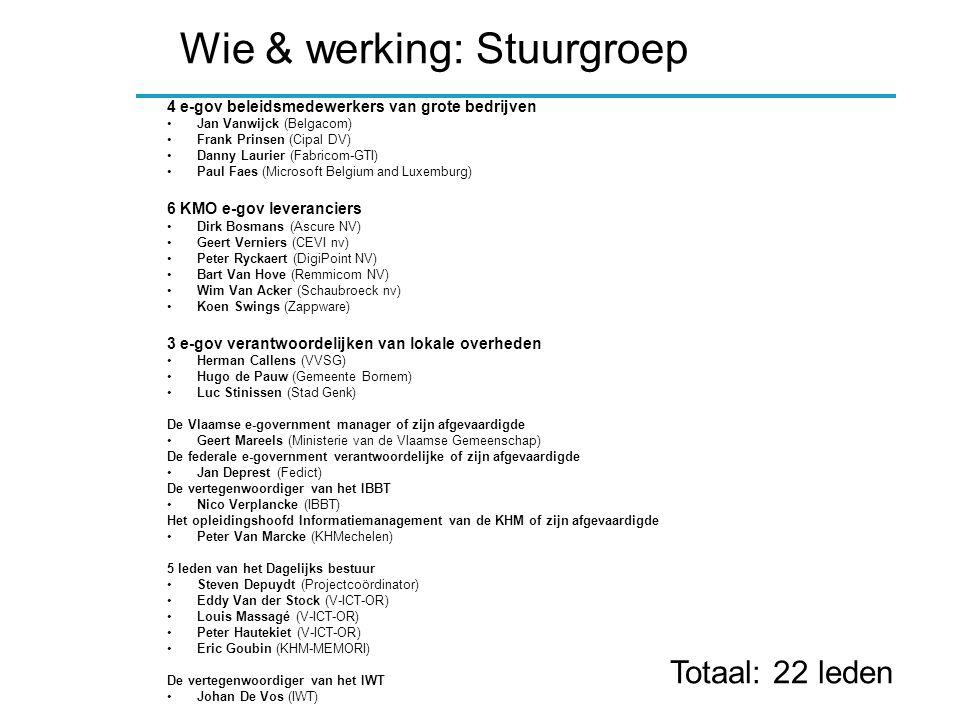 Wie & werking: Bedrijfsconsortium Able nv APC Benelux BV Ascure NV B.A.