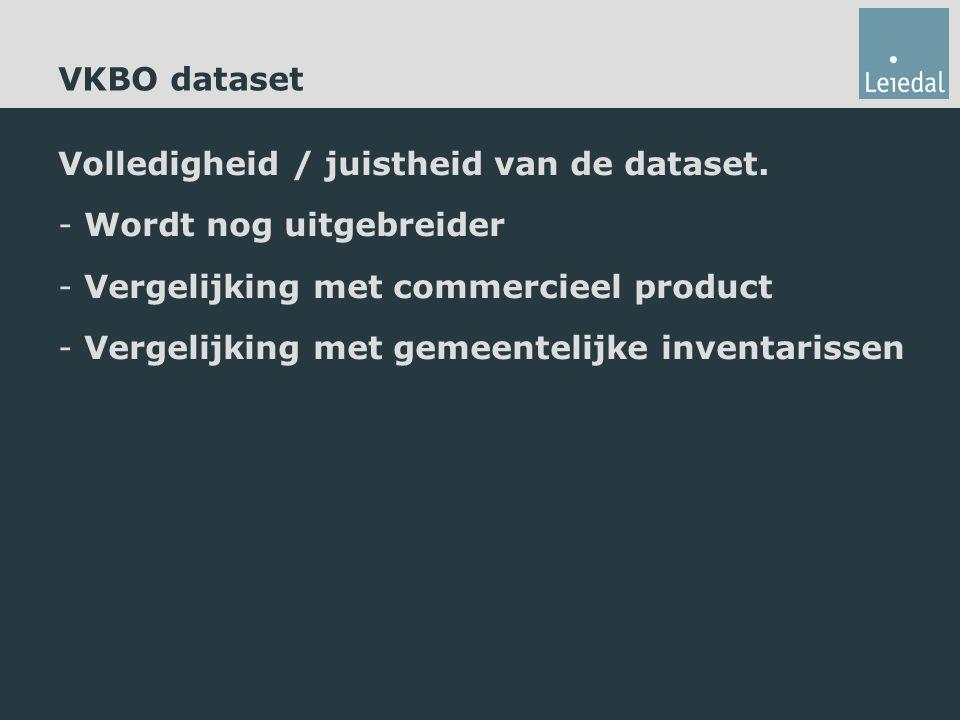 Volledigheid / juistheid van de dataset.