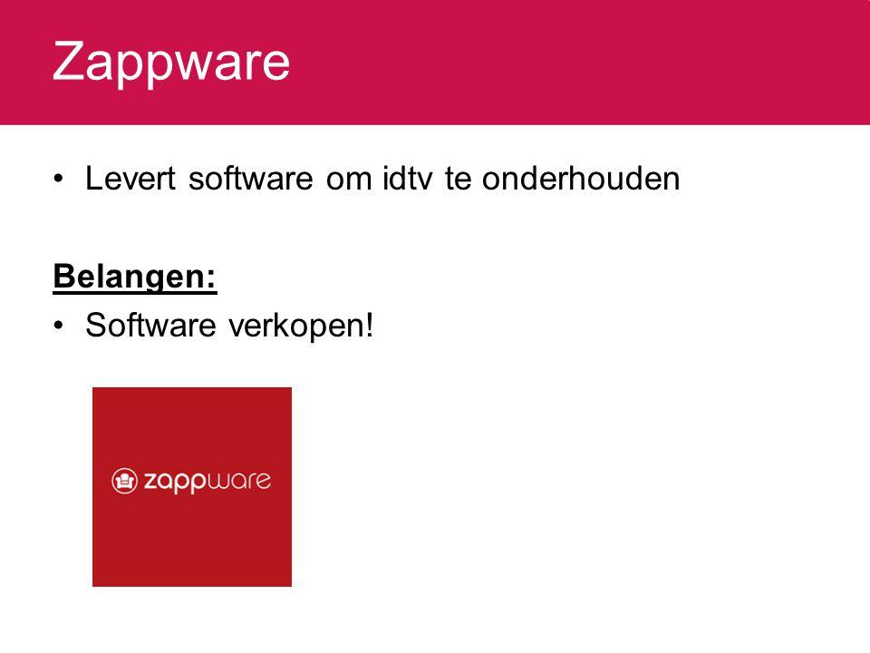 Zappware Levert software om idtv te onderhouden Belangen: Software verkopen!