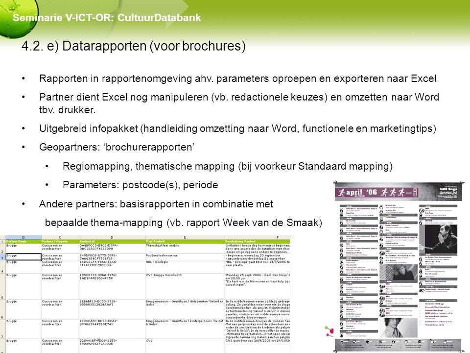 4.2. e) Datarapporten (voor brochures) Rapporten in rapportenomgeving ahv.
