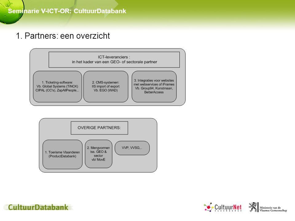 1. Partners: een overzicht Seminarie V-ICT-OR: CultuurDatabank
