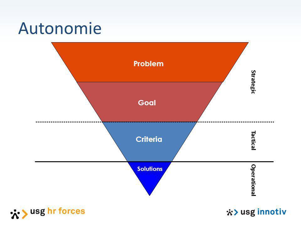 Strategic Tactical Operational Problem Goal Criteria Solutions Autonomie