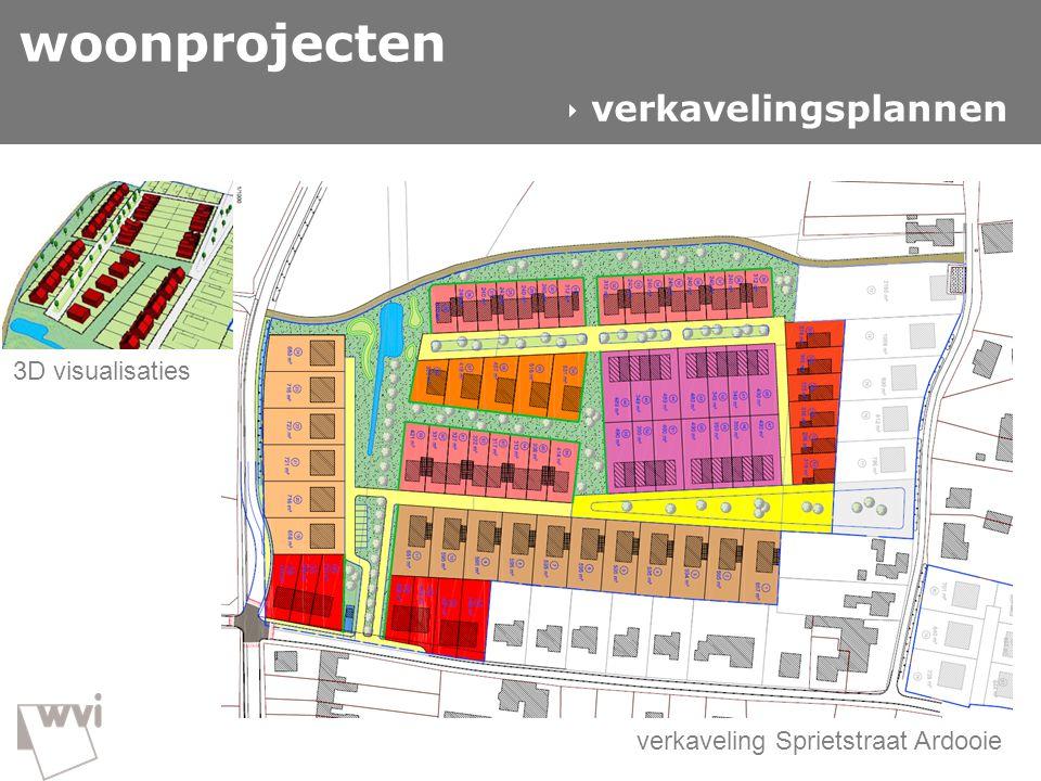 GIS in de wvi  woonprojecten verkaveling Sprietstraat Ardooie woonprojecten  verkavelingsplannen Input Gitte 3D visualisaties