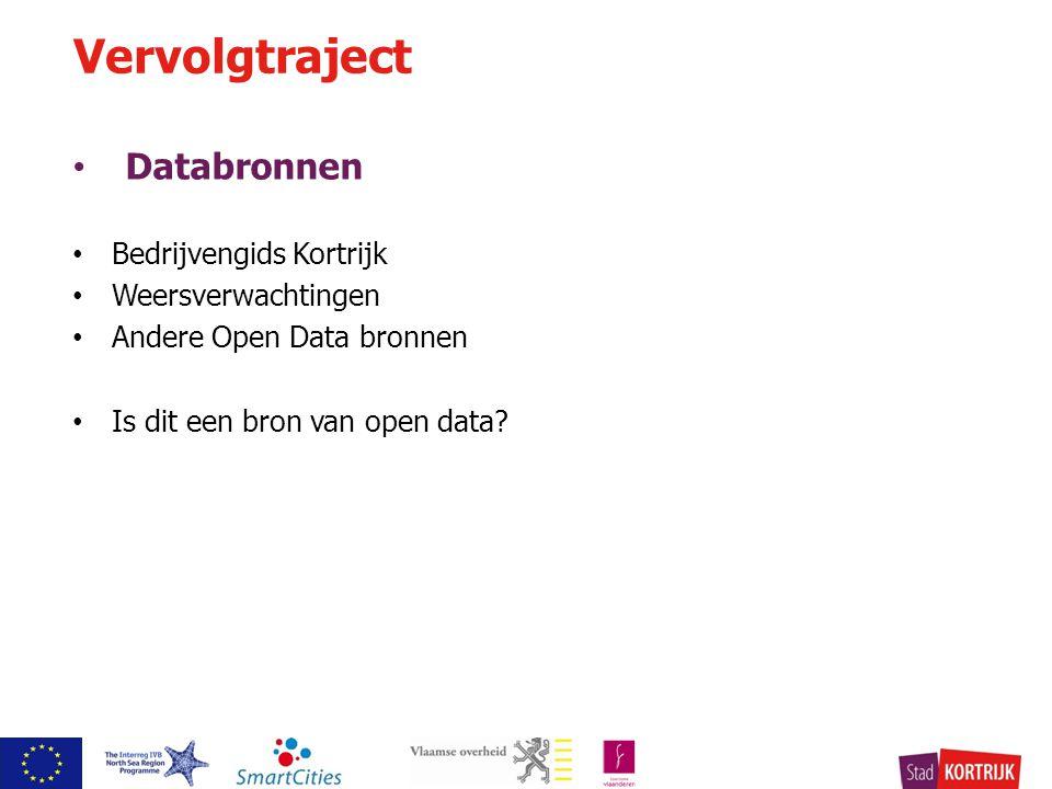 Databronnen Bedrijvengids Kortrijk Weersverwachtingen Andere Open Data bronnen Is dit een bron van open data.