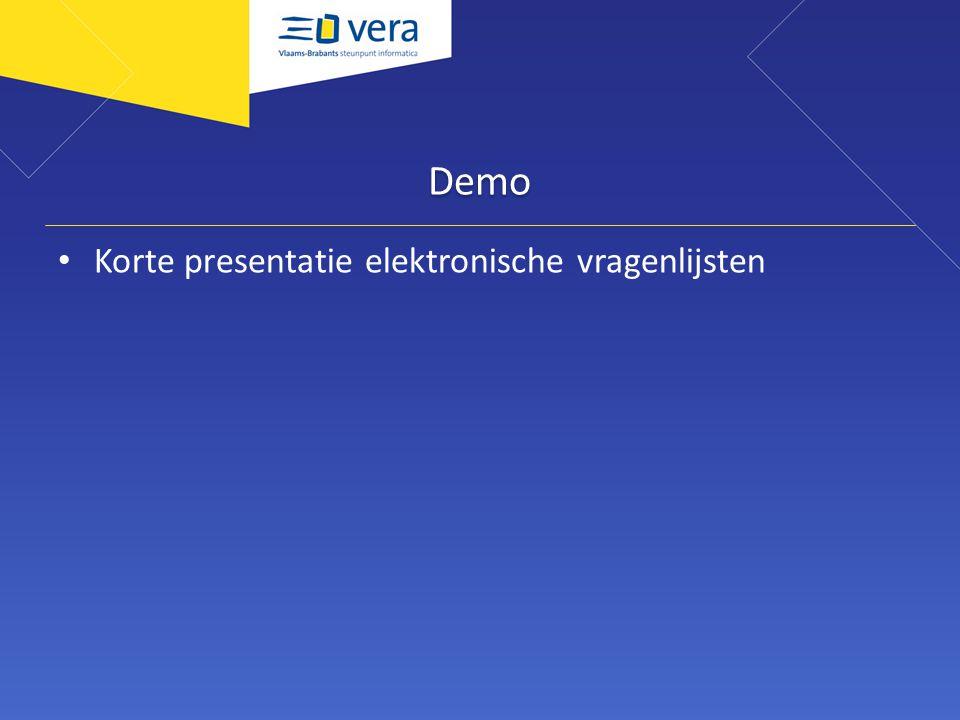 Demo Korte presentatie elektronische vragenlijsten