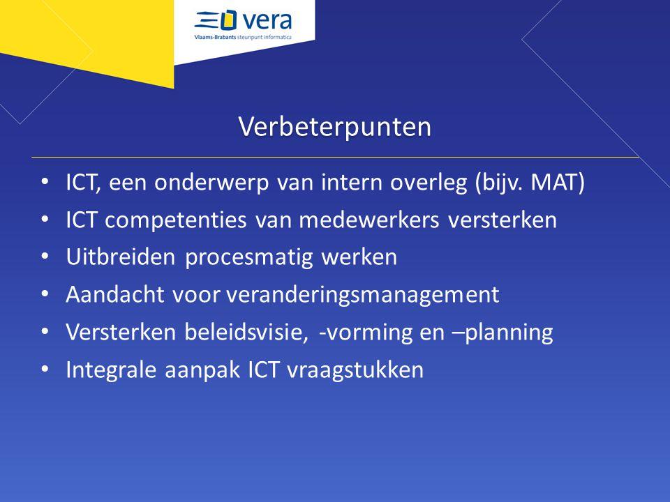 Verbeterpunten ICT, een onderwerp van intern overleg (bijv.