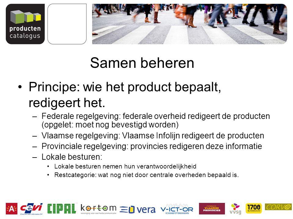 Samen beheren Principe: wie het product bepaalt, redigeert het.