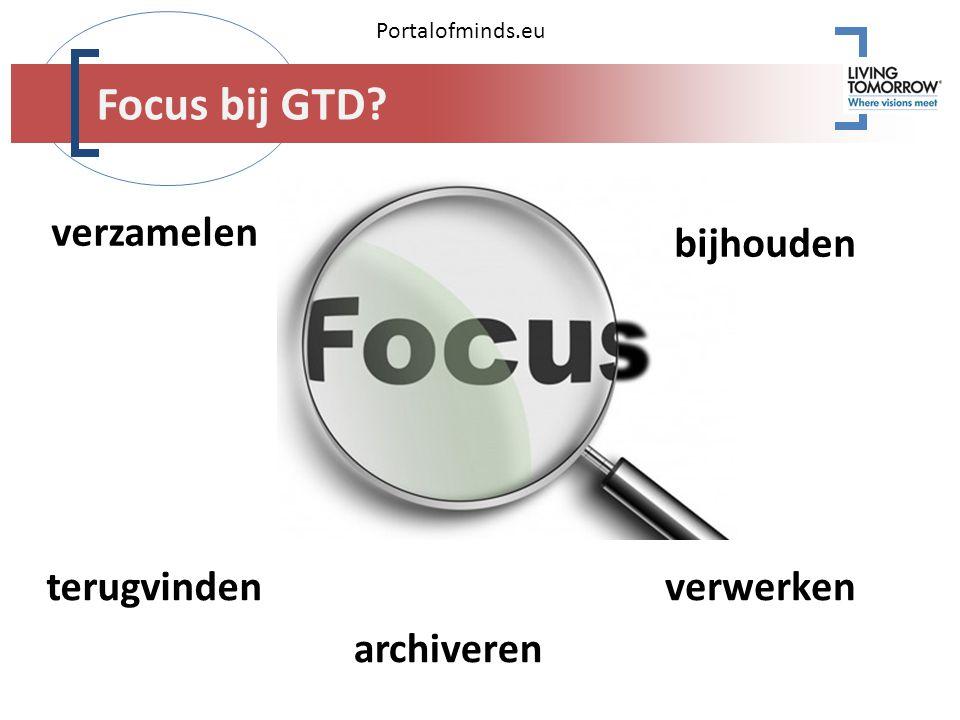 Portalofminds.eu archiveren verzamelen bijhouden terugvindenverwerken Focus bij GTD