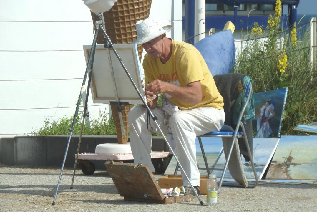 Deze man maakte de mooiste schilderijen ter plekke