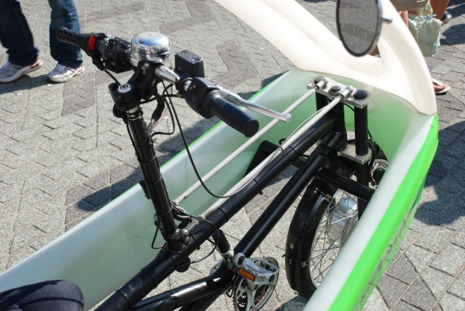 De fietstaxi op het Willemsplein