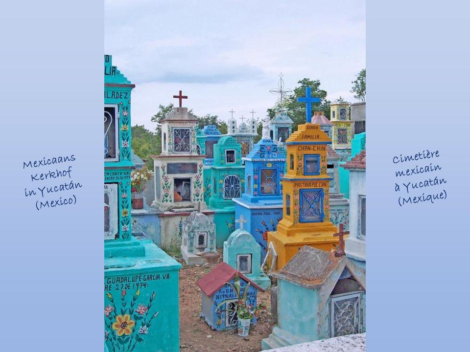 Mexicaans Kerkhof in Yucatán (Mexico) Cimetière mexicain à Yucatán (Mexique)