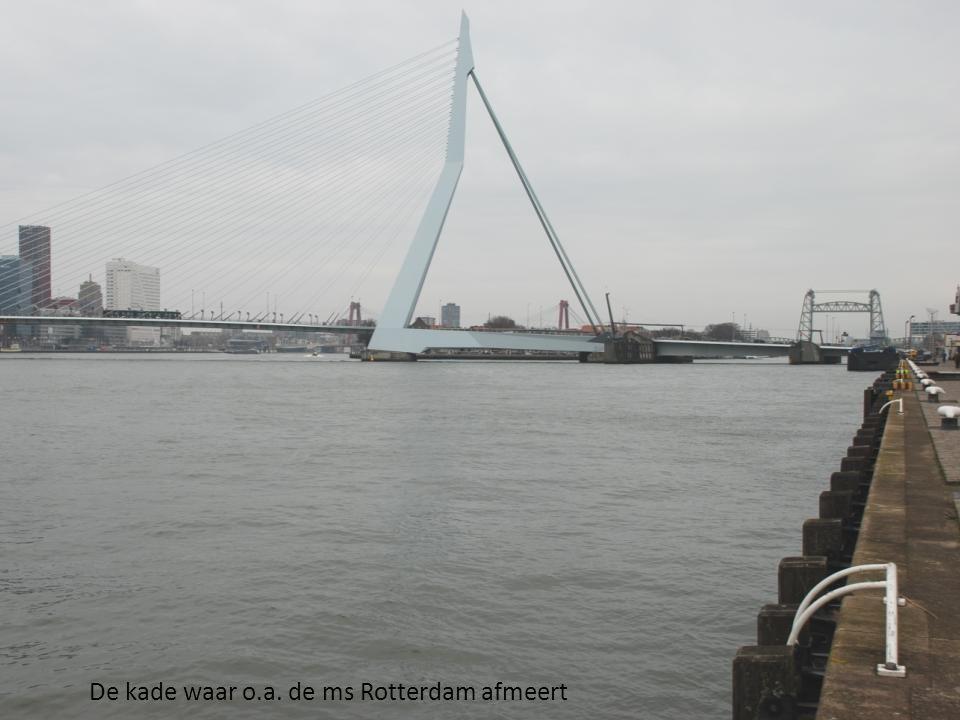 De kade waar o.a. de ms Rotterdam afmeert