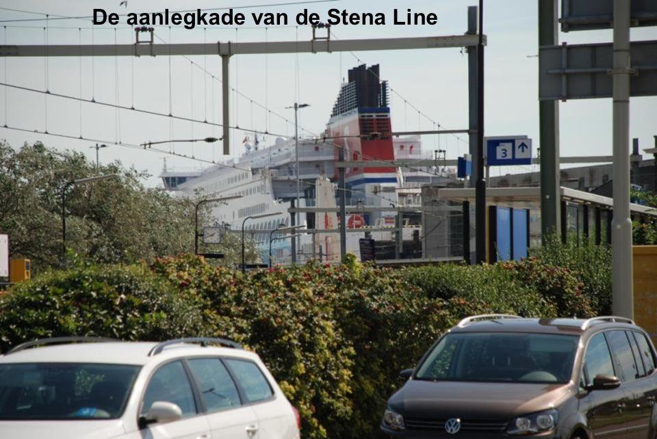 De aanlegkade van de Stena Line