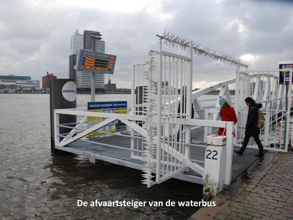 De waterbus naar Dordrecht vaart gewoon door