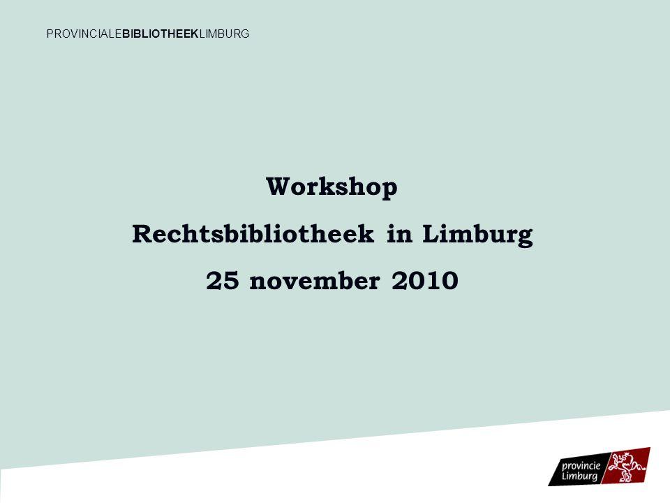 Provinciale Bibliotheek Limburg (PBL) 1.Historiek 2.