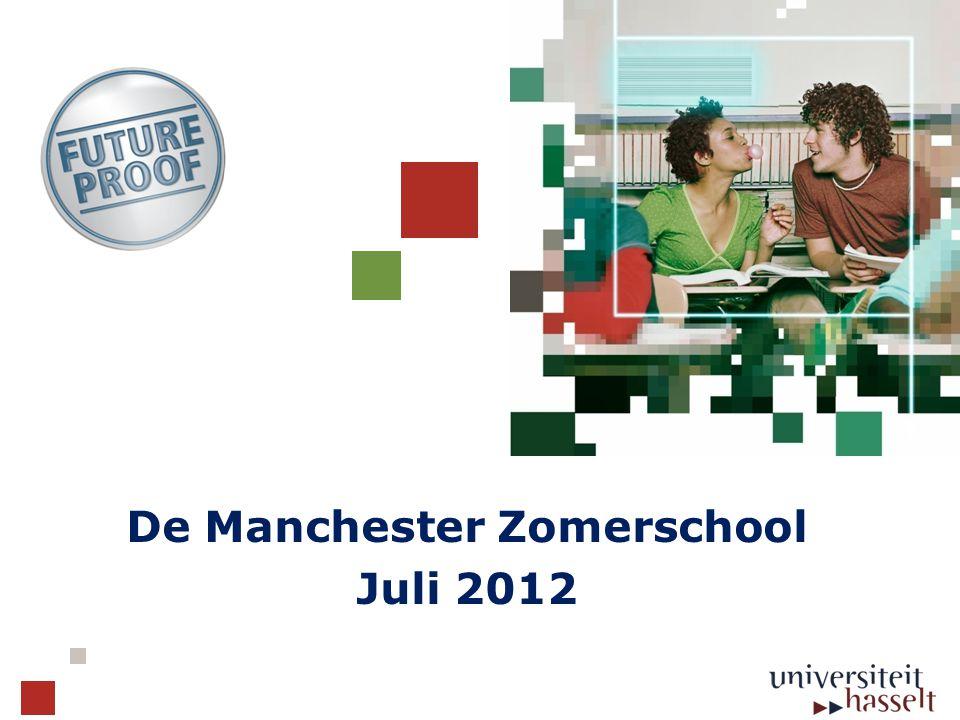 Algemeen kader  Samenwerking met 4 universiteiten: Universiteit Hasselt Universiteit Maastricht Universiteit van Warschau The University of Manchester Gericht naar studenten informatica/ICT, Kennistechnologie, beleids-informatica en wetenschappen