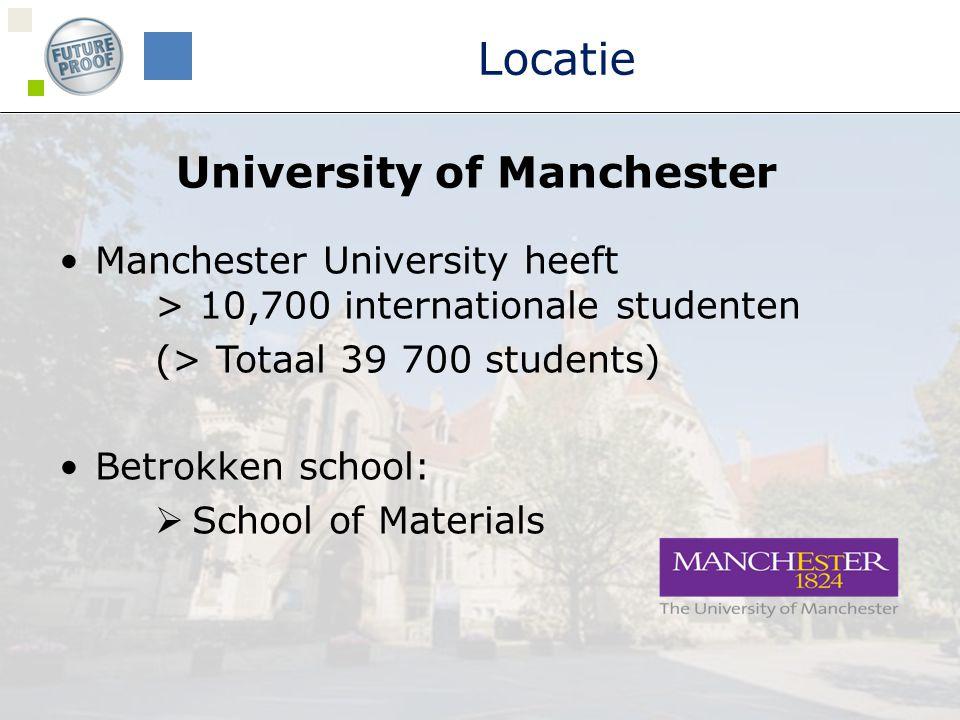 Vrije tijd  Social secretary om de deelnemers wegwijs te maken in het sociale leven van Manchester.
