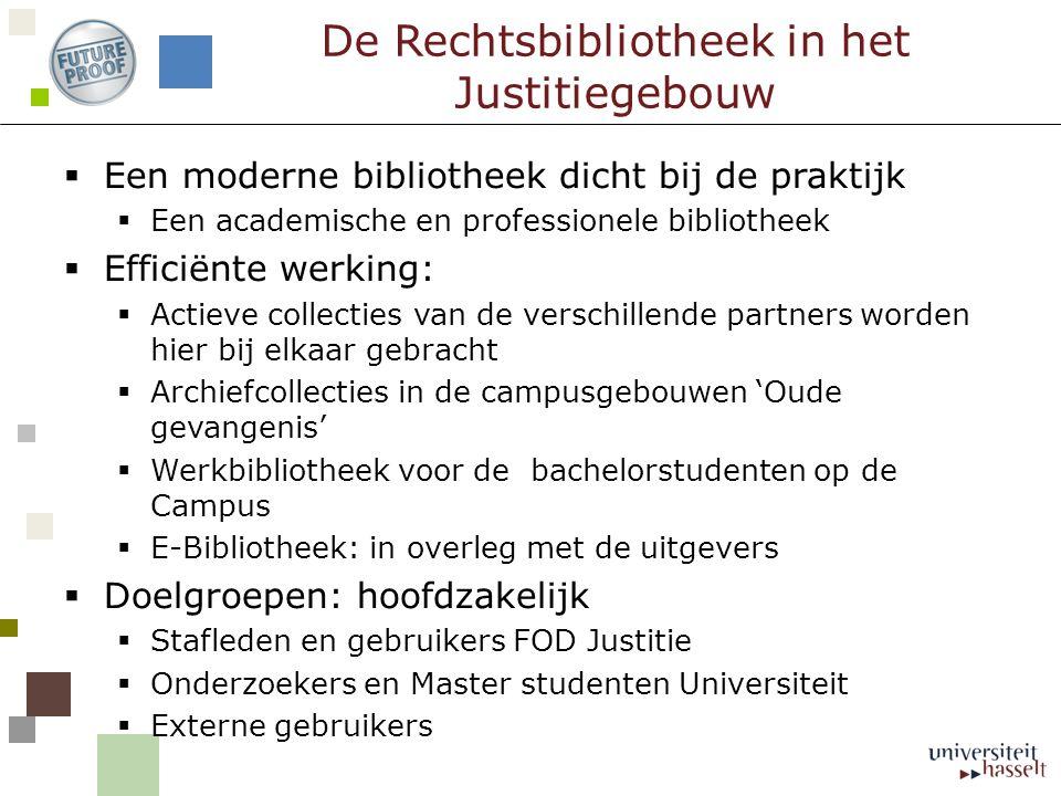  Een moderne bibliotheek dicht bij de praktijk  Een academische en professionele bibliotheek  Efficiënte werking:  Actieve collecties van de versc