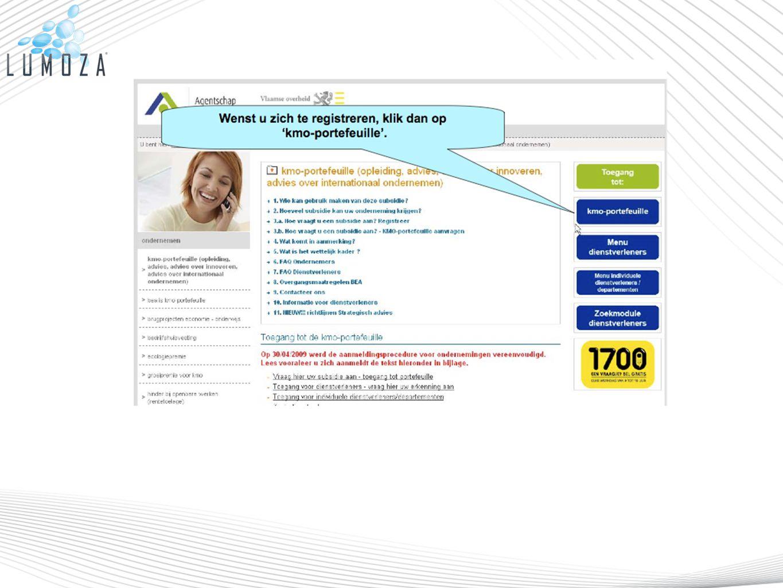 Dit nieuwe toegangssysteem wordt gekoppeld aan de bestaande gegevensdatabank van ondernemingen.