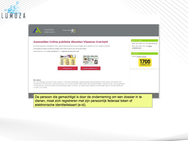 Wanneer u voor het eerst naar een digitale steunmaatregel gaat zal u nog een aantal aanvullende registratiegegevens van de onderneming moeten invullen.