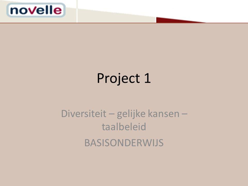 Project 1 Diversiteit – gelijke kansen – taalbeleid BASISONDERWIJS