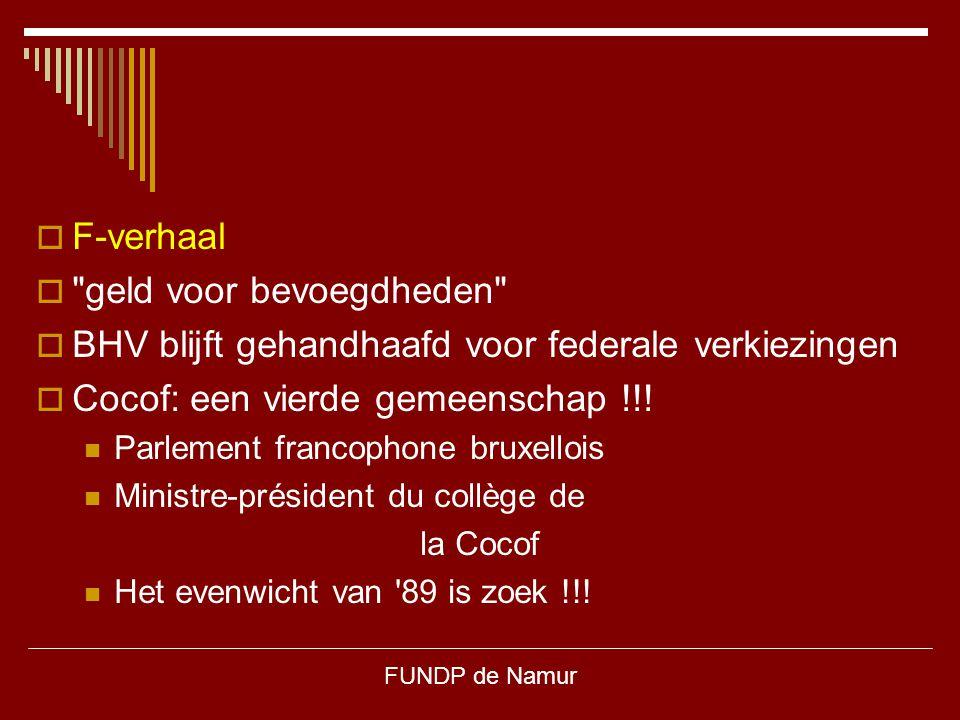 FUNDP de Namur  F-verhaal 