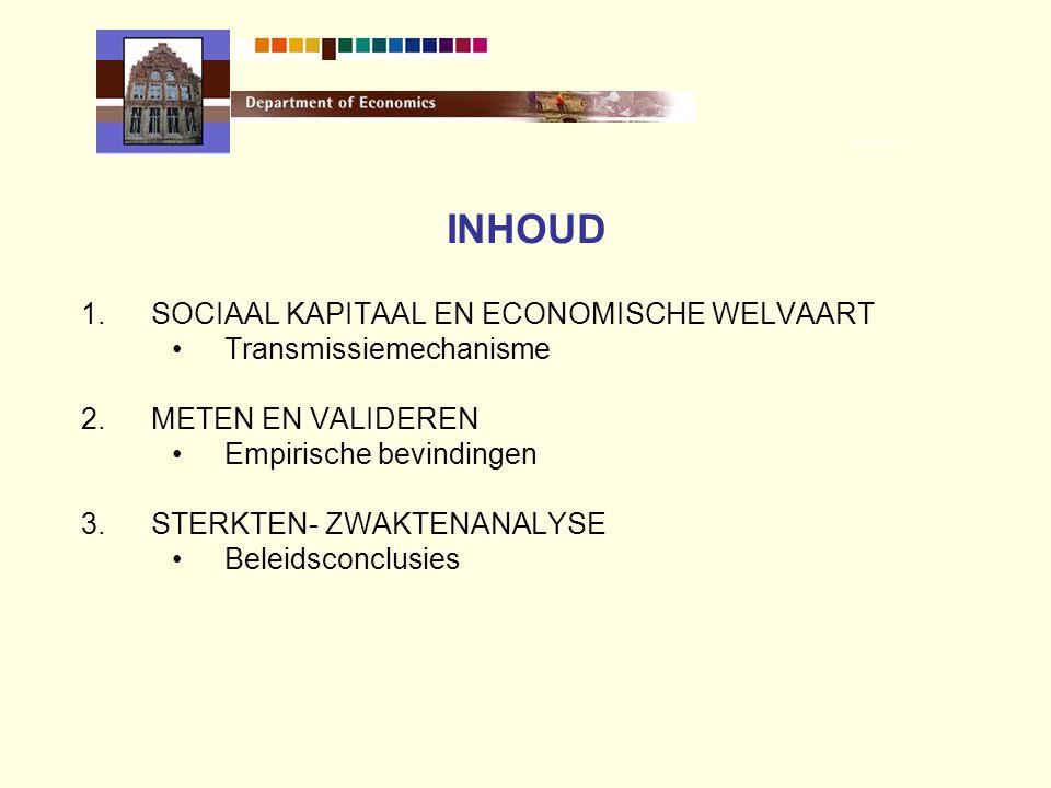 VERTROUWEN IN INSTELLINGEN (2002) Onderwijs79,1% Gemeentelijke administratie52,5% Vlaamse Administratie40,4% Gerecht30,1% (Bron: Instituut voor de Overheid, Werken aan de Overheid)
