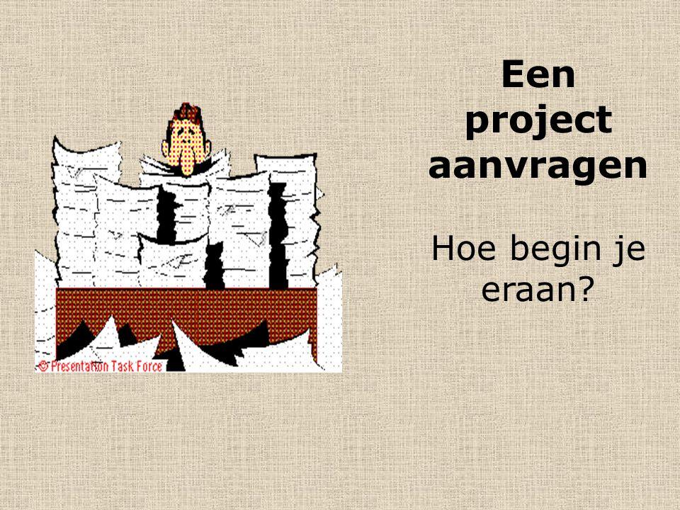 Het begin… Ruw projectidee vs. Concrete oproep of financieringsinstantie