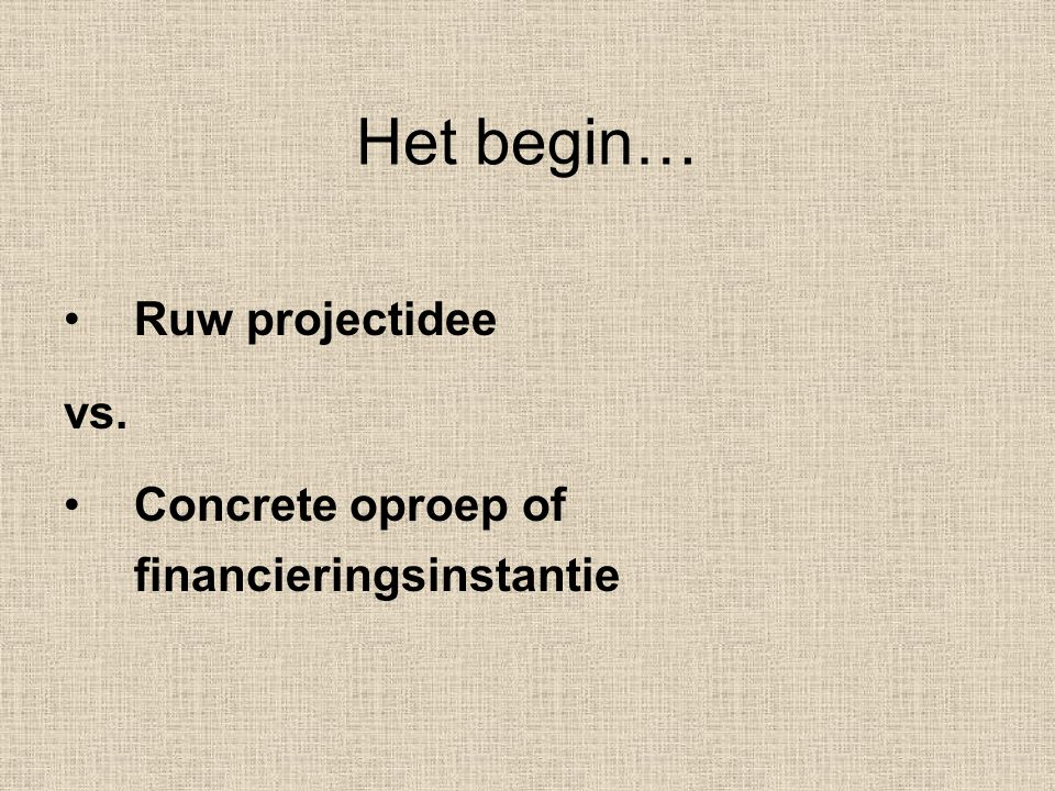 Projecten i.f.v.