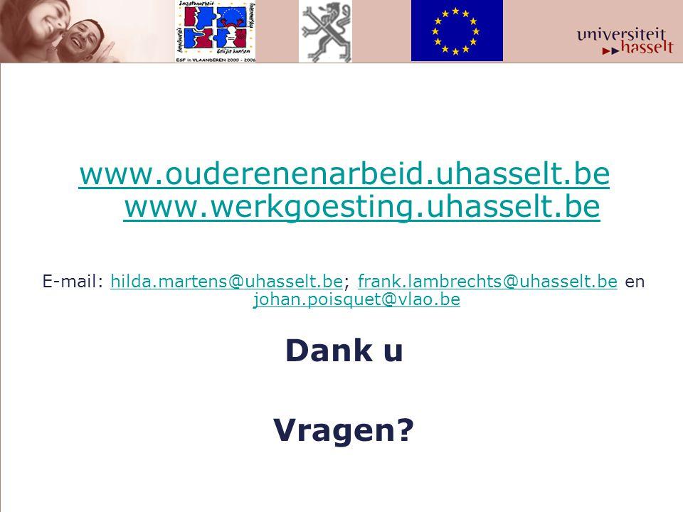 www.ouderenenarbeid.uhasselt.be www.ouderenenarbeid.uhasselt.be www.werkgoesting.uhasselt.bewww.werkgoesting.uhasselt.be E-mail: hilda.martens@uhassel