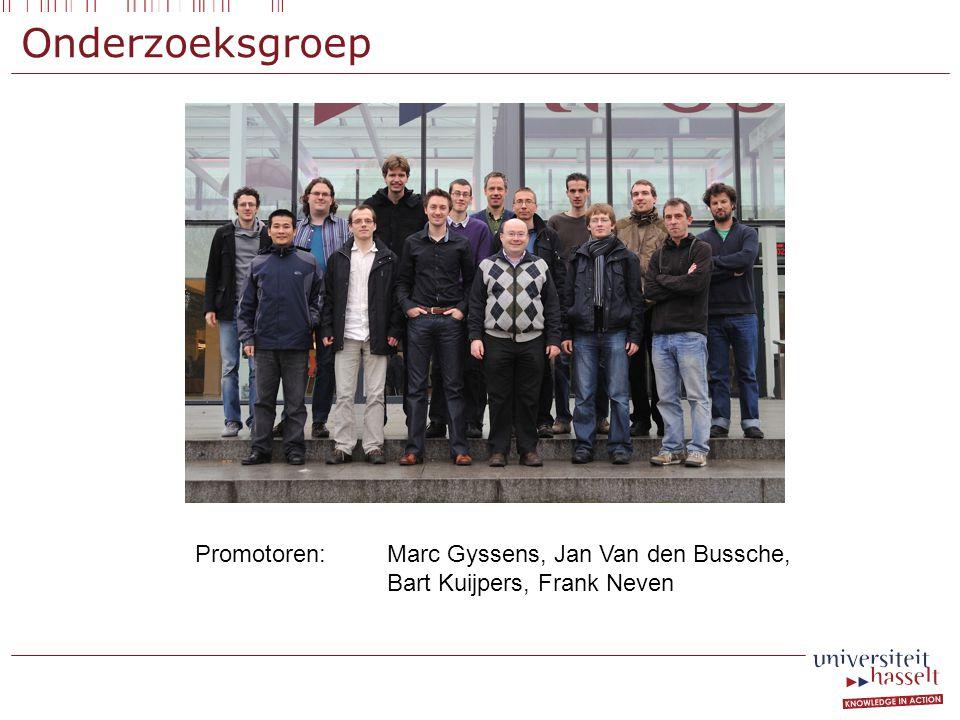 Onderzoeksgroep Promotoren: Marc Gyssens, Jan Van den Bussche, Bart Kuijpers, Frank Neven