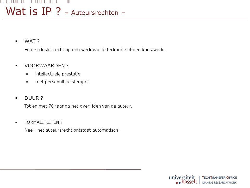 Wat is IP .– Auteursrechten –  WAT .
