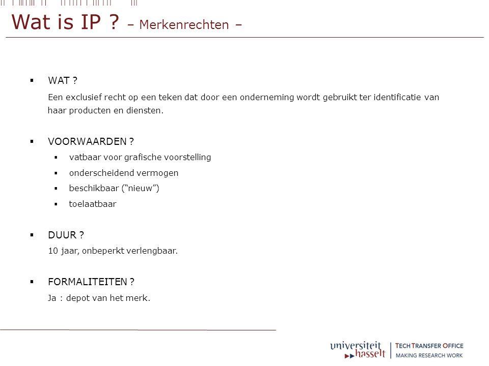 Wat is IP .– Merkenrechten –  WAT .
