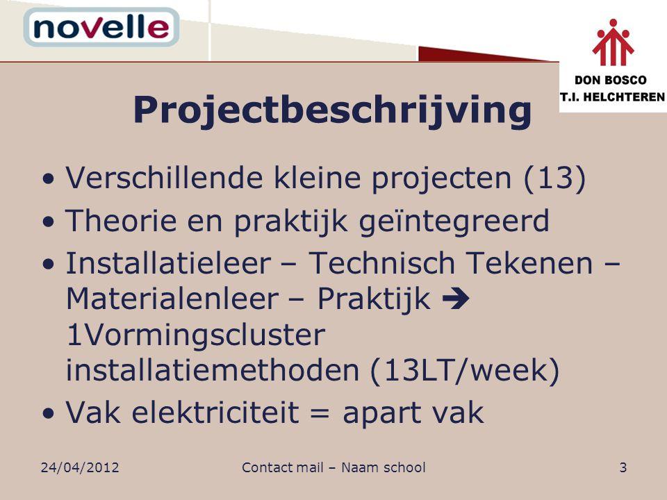 Projectbeschrijving Doel: stap voor stap (=deelproject) de elektrische installatie van een residentiële woning realiseren.