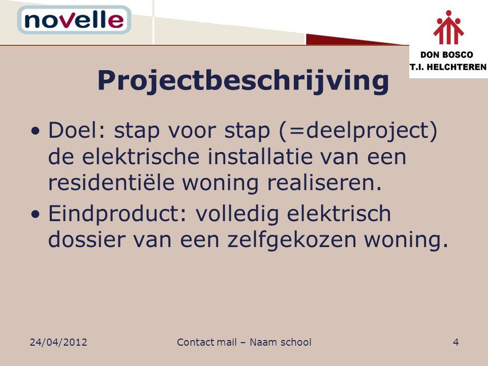 Projectbeschrijving Evaluatie: –Transparantie: de doelstelling per project zijn op genomen in projectbundel –Alle facetten van de projectdoelstelling worden klassiek geëvalueerd.