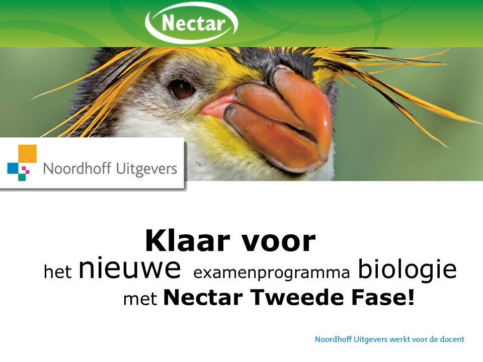 Klaar voor het nieuwe examenprogramma biologie met Nectar Tweede Fase!