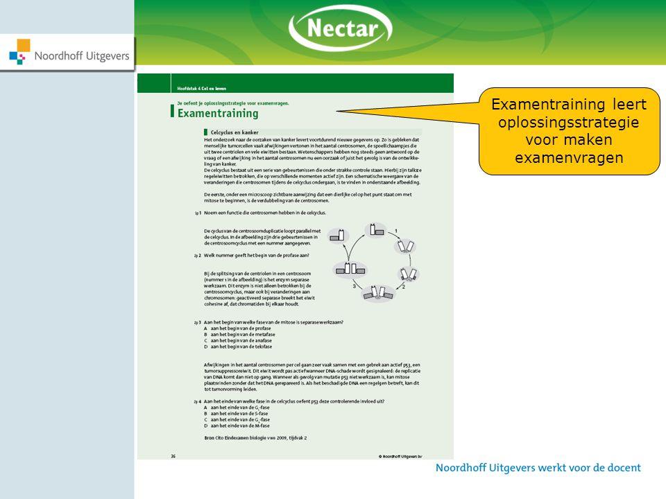Examentraining leert oplossingsstrategie voor maken examenvragen
