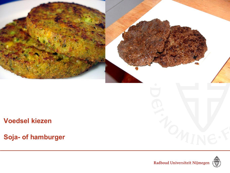 Voedsel kiezen Soja- of hamburger