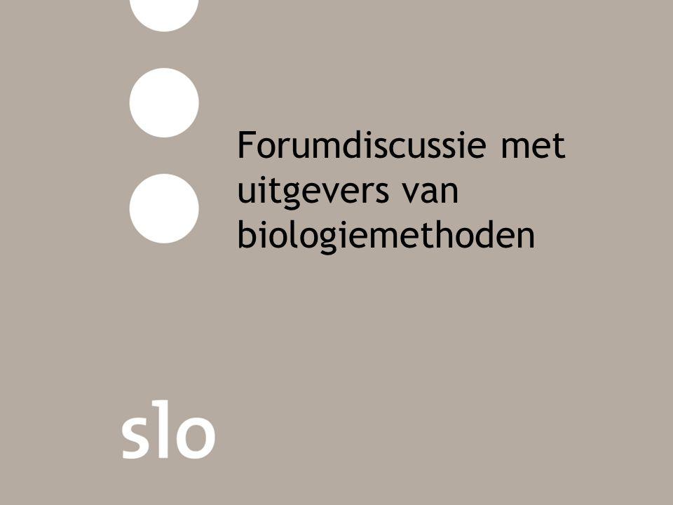 Forumdiscussie met uitgevers van biologiemethoden