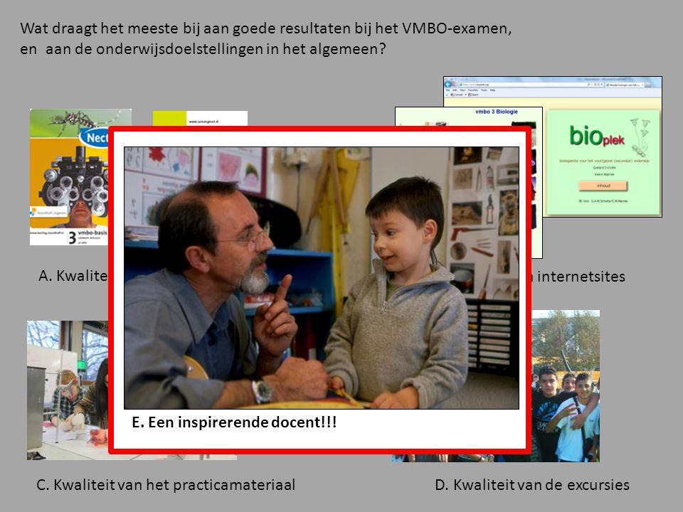 Wat draagt het meeste bij aan goede resultaten bij het VMBO-examen, en aan de onderwijsdoelstellingen in het algemeen.