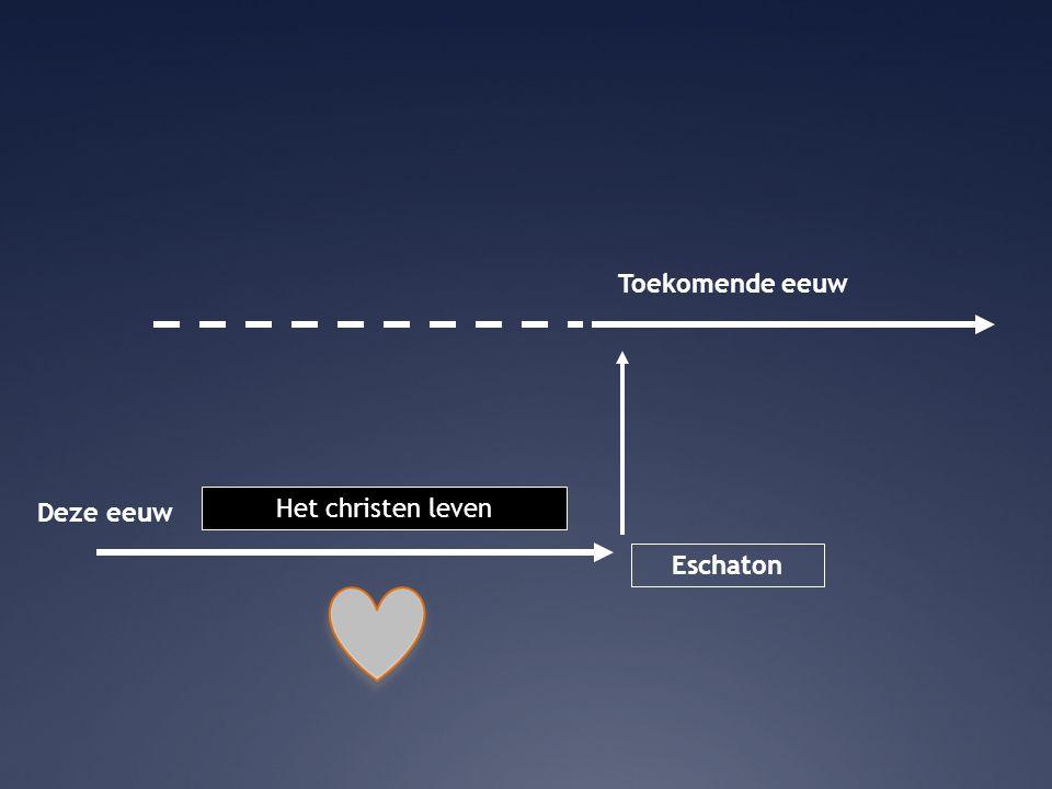 Deze eeuw Toekomende eeuw Eschaton Het christen leven