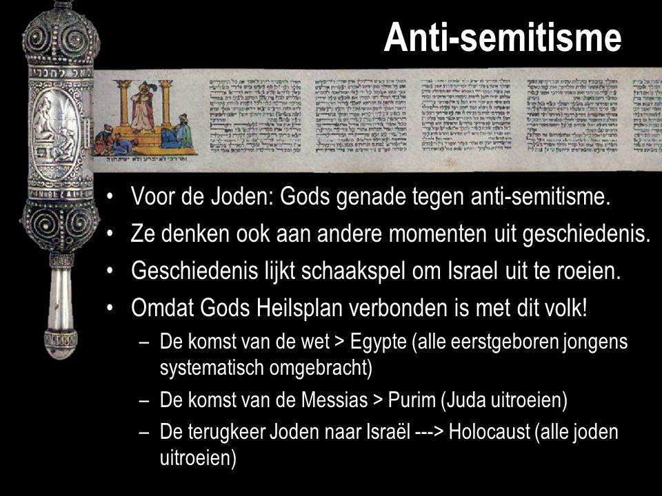 Anti-semitisme Voor de Joden: Gods genade tegen anti-semitisme. Ze denken ook aan andere momenten uit geschiedenis. Geschiedenis lijkt schaakspel om I